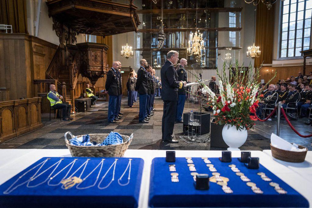 Den Haag, 2 november 2017. Herinneringsmedailles voor Koninklijke Marechaussee (Kmar)
