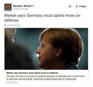 Merkel budget Defensie Duitsland_Noventas by Twitter Reuters (c)
