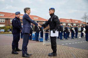 Den Haag 16 december 2016 Gereedstelling Ceremonie Hoog Risico Beveiliging (HRB) van de KMar.