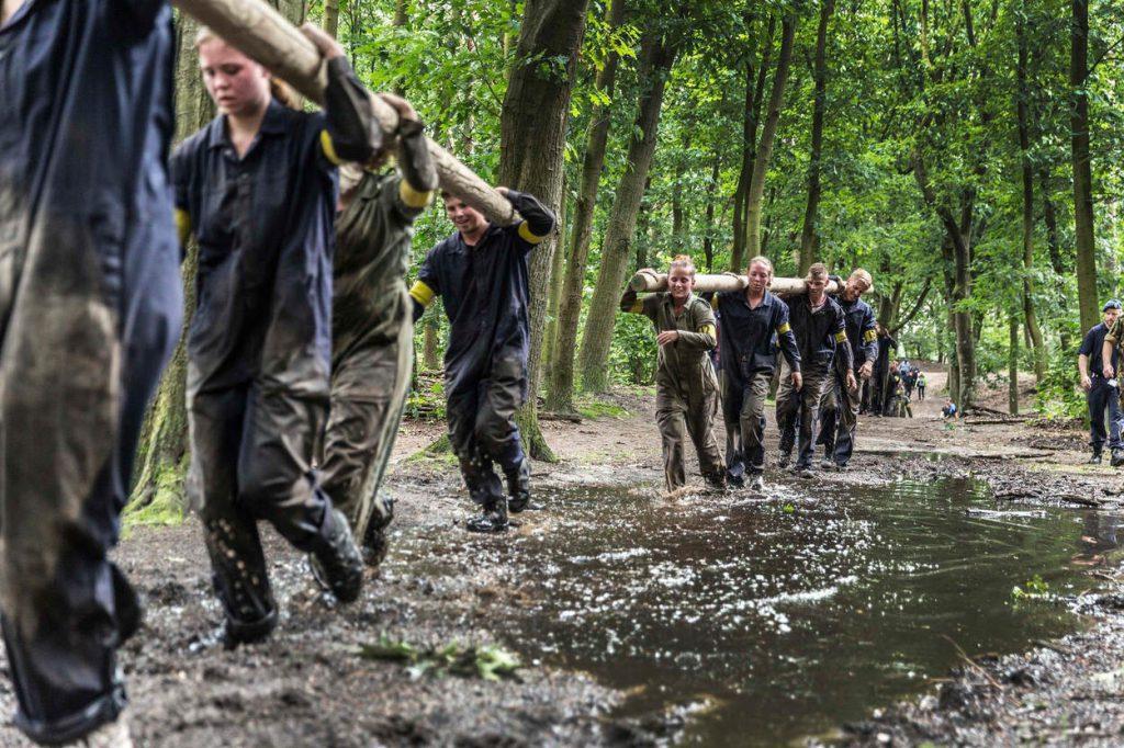 Apeldoorn, 30 juni 2016.Aspirant Marechaussees worden voordat ze aan de opleiding mogen beginnen 3 dagen lang getest in Apeldoorn.