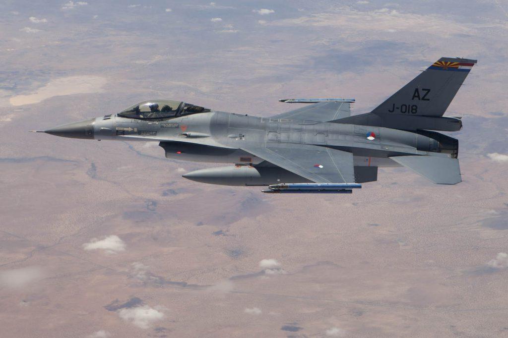 25 juli 2013, Arizona..Nederlandse F-16 zijn gestationeerd in Tucson arizona waar de vliegers worden opgeleid...foto: Nederlandse F-16 met AZ tail (Arizona).