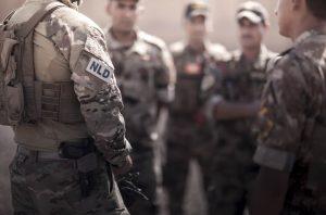 Trainingsmissie Irak,Korps Commando troepen in Bagdad.