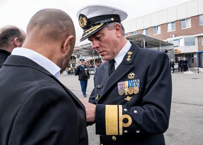 Den Helder, 18 mei 2018 Medaille uitreiking Gesp speciale operaties